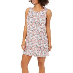 Jaclyn Intimates Womens Watermelon Tank Lounge Dress