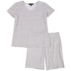 Derek Heart Juniors Pin Stripe Pajama Bike Shorts Set