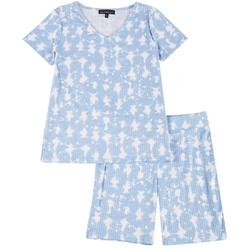 Juniors Allure Pajama Bike Shorts Set