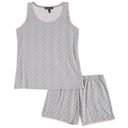 Juniors Polka Dot Pajama Shorts Set