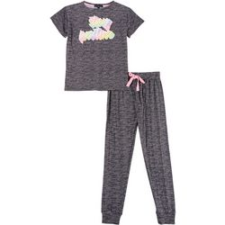 Derek Heart Juniors Stay Positive Jogger Pajama Set