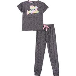 Juniors Stay Positive Jogger Pajama Set