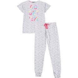 Derek Heart Juniors Go Get Em Jogger Pajama Set