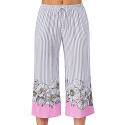Juniors Floral Border Print Pajama Pants