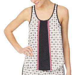 Juniors Pattern Mixed Sleeveless Pajama Top