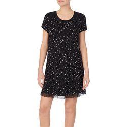 Kensie Juniors Star Print Short Sleeve Nightshirt