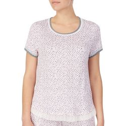 Juniors Dot Print Pajama Top