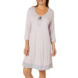 Ellen Tracy Womens Printed  Nightgown