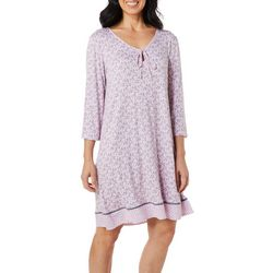Ellen Tracy Womens Bouquet Print Nightgown