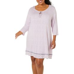 Ellen Tracy Plus Bouquet Print Nightgown