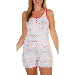 Jammies Sleepwear Rainbow Heart Print Pajama Shorts Set