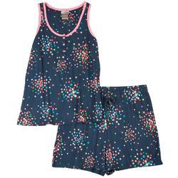 Sleepwear Rainbow Star Print Pajama Shorts Set