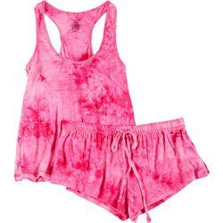 Rene Rofe Juniors 2-Pc. Tie Dye Pajama Shorts & Tank Set