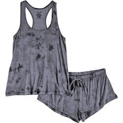 Juniors 2-Pc. Pastel Tie Dye Pajama Shorts Set