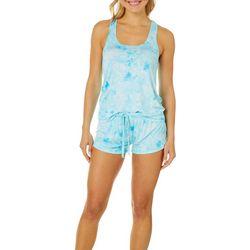 Rene Rofe Juniors Tie Dye Pajama Shorts Set