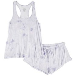 Rene Rofe Juniors Tie Dye Pajama Shorts Set