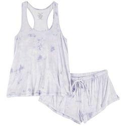 Juniors Tie Dye Pajama Shorts Set