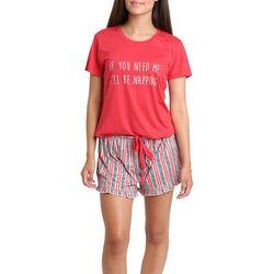 Juniors I'll Be Napping Pajama Shorts Set