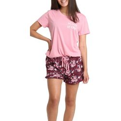 Wallflower Juniors Be Cool Be Kind Pajama Shorts Set