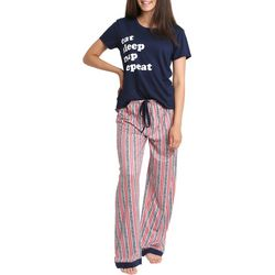 Wallflower Juniors Eat Sleep Nap Repeat Pajama Pants Set