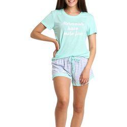 Juniors Mermaids Have More Fun Pajama Shorts Set