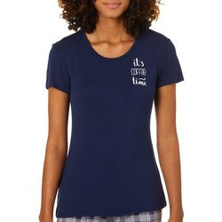 Wallflower Juniors It's Coffee Time Sleep T-Shirt