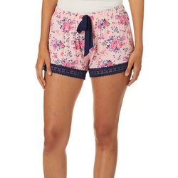 Juniors Floral Pajama Shorts