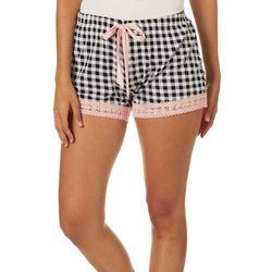 Wallflower Juniors Houndstooth Pajama Shorts