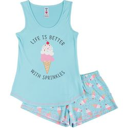 Wurl Juniors Life Is Better With Sprinkles Pajama Shorts Set