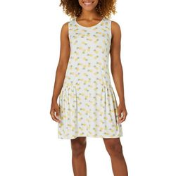Jaclyn Intimates Womens Pineapple Print Tank Lounge Dress