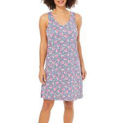 Jaclyn Intimates Womens Watermelon Print Tank Lounge Dress