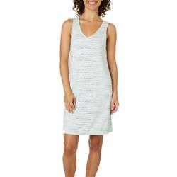 Jaclyn Intimates Womens Rainbow Stripe Nightgown