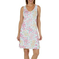 Jaclyn Intimates Womens Island Blooms V-Neck Nightgown