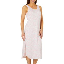 Jaclyn Intimates Womens Flamingo Print Lounge Dress