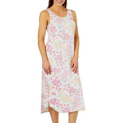 Jaclyn Intimates Womens Blossom Print Lounge Dress