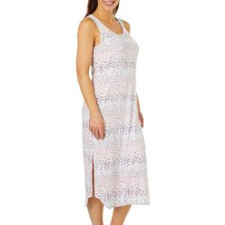 Jaclyn Intimates Womens Polka Dot Print Lounge Dress