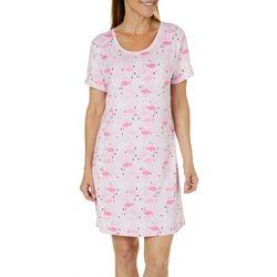 Jaclyn Intimates Womens Flamingo Print Nightgown