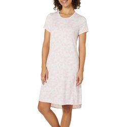 Jaclyn Intimates Womens Flamingo High-Low Nightgown