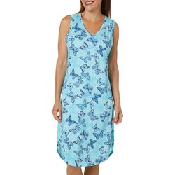 Jaclyn Intimates Womens Butterfly V-Neck Nightgown