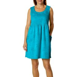 Coral Bay Womens Palm Sleeveless Leisure Dress