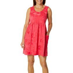 Coral Bay Womens Flamingo Sleeveless Leisure Dress