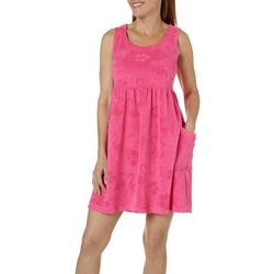 Coral Bay Womens Flamingo Sleeveless Leisure Dress