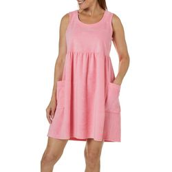 Coral Bay Womens Solid Sleeveless Leisure Dress