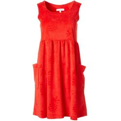 Coral Bay Womens Embossed Pineapple Sleeveless Leisure Dress