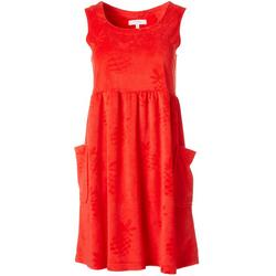 Womens Embossed Pineapple Sleeveless Leisure Dress