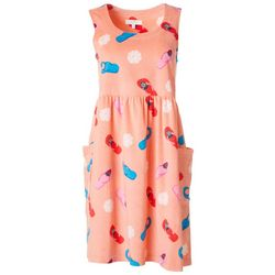 Coral Bay Womens Flip Flop Terry Sleeveless Leisure Dress