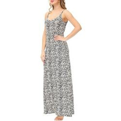 Ink + Ivy Womens Zebra Strappy Maxi Nightgown