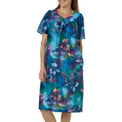 Lissome Womens Floral Print Short Sleeve Duster Robe 4bfe03837
