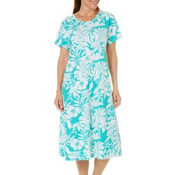 Coral Bay Womens Tropical Toucan Leisure Dress