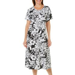 Coral Bay Plus Toucan Print Leisure Dress